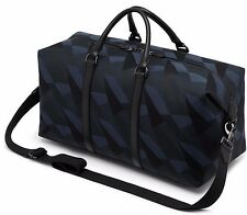 MULBERRY NAVY BLUE & BLACK DAZZLE CAMO CANVAS HOLDALL/WEEKEND/TRAVEL BAG BNWT