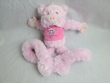 SINGING JUST HANGIN WHAT UP PINK PIG EXTENDABLE ARMS HANDS FEET HUG ME PLUSH TOY