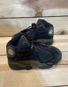 "Air Jordan 13 Retro ""Olive"" PreSchool Athletic Basketball Shoes. Size 12C"