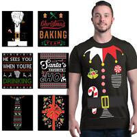 ALL Christmas Men's T-Shirt Holiday Santa Elf Costume Xmas Funny Ugly Tees