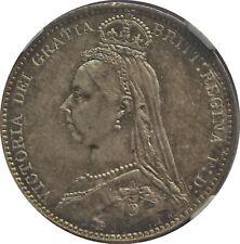 Stunning 1887 Great Britain 6 Pence Jubilee Head NGC MS65