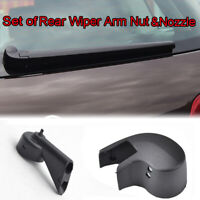 2Pcs/set Rear Windscreen Wiper Arm Nut Cap Washer Jet For Audi A1 A3 A4 A6 Q7