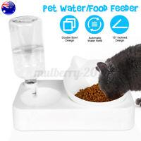 ❤ Automatic Water/Food Pet Dog Cat Puppy Dispenser Feeder Bowl Bottle Self AU