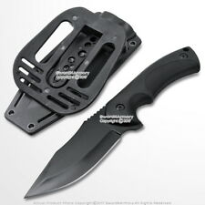 """9"""" Fixed Black Blade Tactical Hunting Knife with ABS Belt Loop Holster Sheath"""