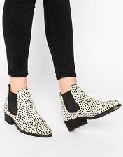 Warehouse Zara Group Animal Print Leather Haircalf Ankle Boots Size 37/6,5