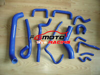 BLUE FOR NISSAN SKYLINE R33 GTS-25T/GTS-4 RB25DET SILICONE RADIATOR HEATER HOSE
