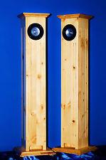 PINUS CEREUS-MEX Paar HiFi-Stereo Lautsprecher Boxen Säulen HOLZ Fichte LANDHAUS