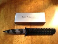 Tac-Force Knurled Speedster A/O Urban Camo Dagger Knife w/glass breaker NEW!!!