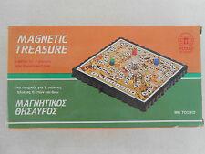 Vintage 80's Greek Toy Pocket Magnetic Treasure Board Dice Game by Petalo - Rare
