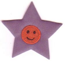 Reflective Gray Grey Star Embroidery Applique Patch