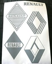 Kit 5 adesivi RENAULT decal sticker CLIO CUP SPORT TEAM MEGANE COACH