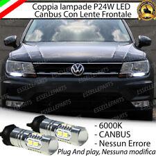 COPPIA LAMPADE DIURNE DRL 10 LED PW24W CANBUS VW TIGUAN MK2 6000K NO ERROR