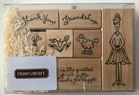 Friendship is a Gift 7 Rubber Stamps Girl Friend Poodle S619 CTMH JRL Design