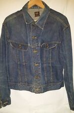Vtg Early Lee 101-J Indigo Jean Denim Jacket 44-R Union Made USA Sanforized EVC