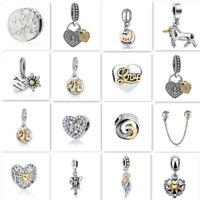 European 1pcs  Silver CZ Charm Beads Fit  925 Necklace Bracelet Chain DIY HOT