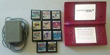 Nintendo DSi Girls HOT PINK Video Game Lot TESTED NES Gaming Portable Animals