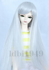 "1/3 8-9"" BJD Wig Dal Pullip LUTS DOD DD Dollfie SD Doll Long Grey wig"