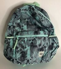 Gap Girls Youth Sea Green Puppy Dogs Zip Up Back Pack
