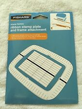 New Fiskars stamp factory ribbon stamp plate and frame attachment