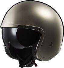 Jet-helm LS2 Of 599 Spitfire Single Mono Gloss Chrome verchromt Cafe' Racer