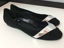 Pierre Hardy NEW black Suede Leather Shoes Ballerina Flats Size 37 Uk 4
