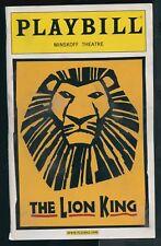 Playbill - The Lion King - Minskoff Theatre