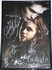 TWILIGHT CAST x8 Fully signed Poster Frame