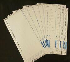 Silver Reed Knitmaster Knitting machine FRP 70 Ribber Punchcard set FP1-10