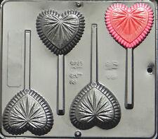 Fancy Heart Lollipop Chocolate Candy Mold Valentine  3032 NEW