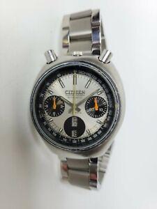 Citizen Challenge Timer Bullhead Automatic Chronograph Watch 1970s 67-9011