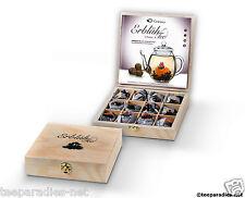 Erblühtee Creano Erblüh Tee *12er Holzbox Schwarzer Tee* 12 Kugeln Weihnachten