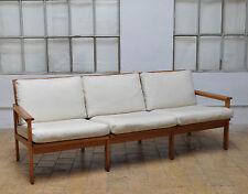 Illum Wikkelso vintage Oak 3er Sofa Danish Modern  Cabinet Maker Nils Eilersen