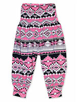 Girls Harem Trousers Pink Aztec Dance Party Costume New Age 2 3 4 5 6 13 Years