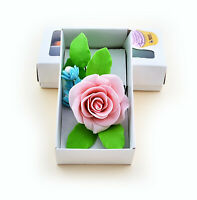 Sugar Rose bouquet high quality edible decoration wedding birthday cake topper