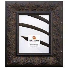 """Craig Frames 3.5"""" Wide Aged Ornate Distressed Black Wall Decor Picture Frames"""