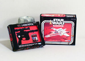 Dollhouse Miniature 1:12  Star Wars X Wing Fighter & Laser Pistol Replica Boxes