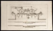 1852 - Engraving Arts Machine Heads Print (1) . Science