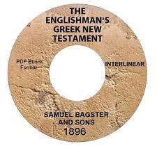 ENGLISHMAN'S GREEK NEW TESTAMENT INTERLINEAR-KJV CD PDF-Kindle-iPhone Compatible