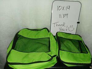 TravelWise Luggage Packing Organization Cubes LOT 2 Small & Medium Green Black
