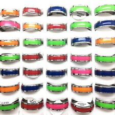 in the dark Party Fashion Jewelry 100pcs Luminous Stainless Steel Rings Glow