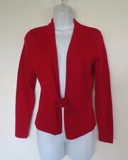 A Giannetti Red Merino Wool Long Sleeve String Tie Sweater PS Petite Small