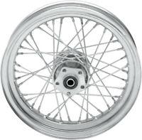 Rear wheel 16x3 chrome - HARLEY DAVIDSON SOFTAIL SPORTSTER XLH GLIDE LOW - Dr...
