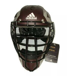 Adidas Pro Series Catcher's Helmet 2.0 Maroon AZ3815 Size 7 - 7 3/4 L-XL NWT