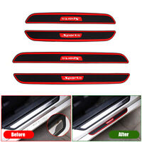 4x Carbon Fibre Car Door Scuff Plate Sill Cover Panel Step Protector Accessories