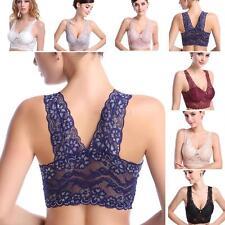 Fashion Ladies Sports Yoga Padded Stretch Vest Sleep Bra Wire Free Lace Crop Top