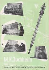 FULDA, Werbung / Prospekt 1952, M K Juchheim Thermometer-Armaturen-Schalt-Fabrik