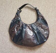 ATTENTION Purse Handbag Shoulder Bag Black Brown Stud Accents