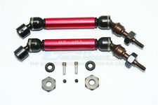 Traxxas Slash 4X4 Upgrade Parts Steel+Aluminum Front CVD Drive Shaft - Red