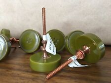 """ANTHROPOLOGIE Knob Pull Drawer Cabinet Round Button 1.5"""" Moss Green Discontinued"""