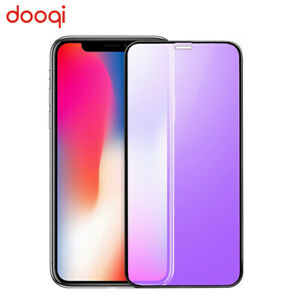 2X For iPhone X/XS/XR/XS Max Anti-Blue Light Full Coverage Tempered Glass Film